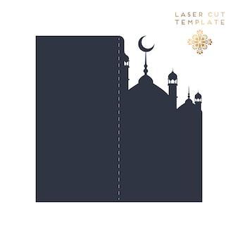 Laser geschnittenes islamisches muster