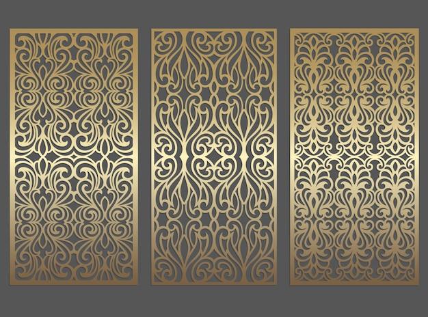 Lasergeschnittenes plattendesign. verzierte weinlese-randschablone für laserschneiden, glasmalerei, glasätzen, sandstrahlen, holzschnitzen, kartenherstellung, hochzeitseinladungen.