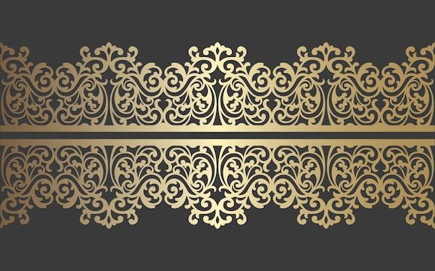 Lasergeschnittenes plattendesign. verzierte weinlesevektor-grenzschablone für laserschneiden, glasmalerei, glasätzen, sandstrahlen, holzschnitzen, kartenherstellung, hochzeitseinladungen.