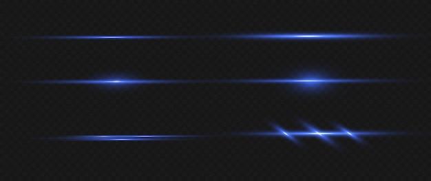 Laserstrahlen, horizontale lichtstrahlen. schöne lichtfackeln.