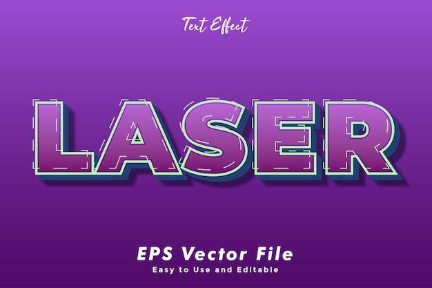 Lasertext-effekt.