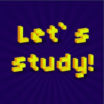 Lass uns ein nettes banner mit 3d-pixeln studieren