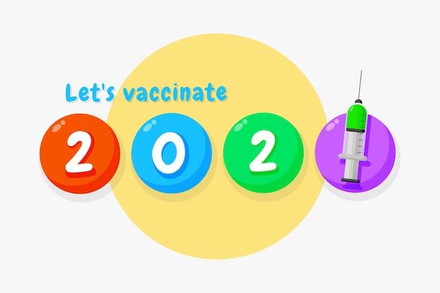 Lass uns geimpft werden illustration