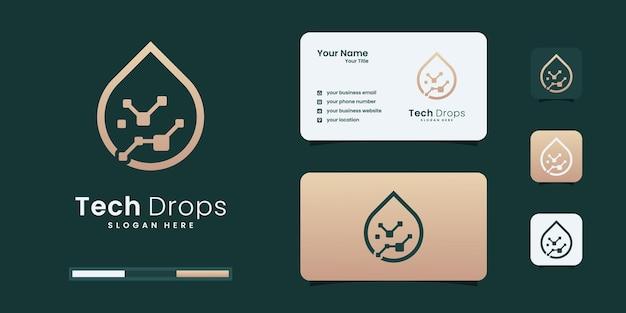 Lassen sie design-vorlagen für tech-logos fallen.