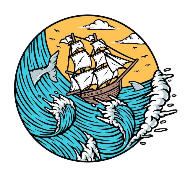 Lassen sie ihre träume die segel setzen illustration