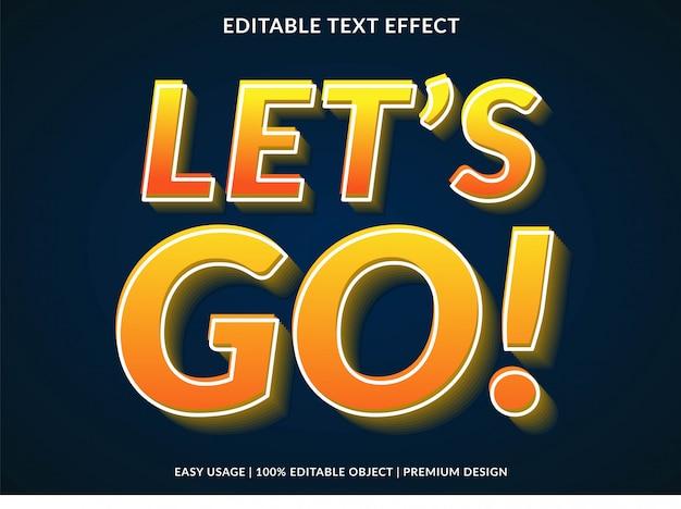 Lassen sie uns 3d-text-effekt gehen