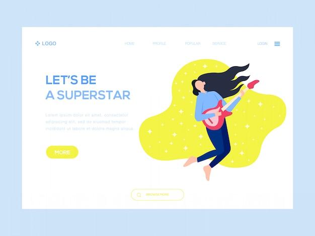 Lassen sie uns eine superstar-web-illustration sein
