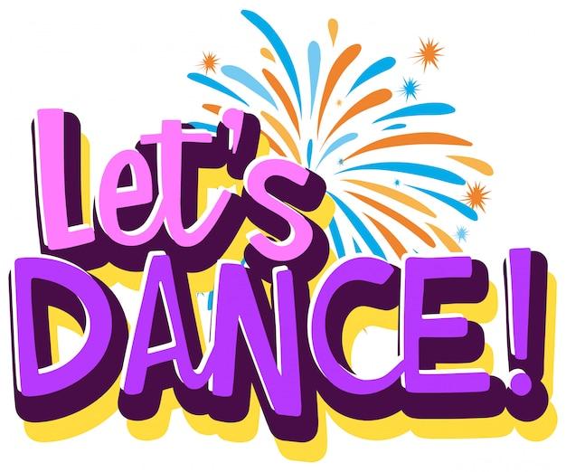Lassen sie uns logo vorlage tanzen