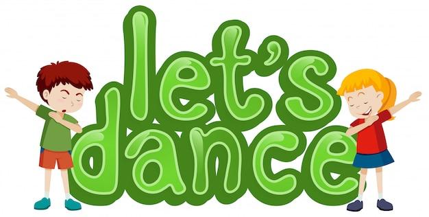 Lassen sie uns symbolvorlage tanzen
