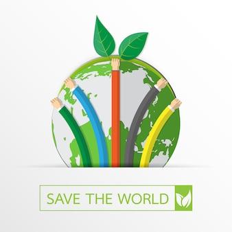 Lasst uns die welt retten und die natur schützen.
