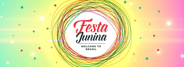 Lateinamerikanische festa junina lebendige banner