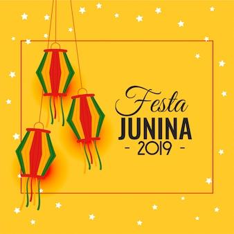 Lateinamerikanischer feiertagshintergrund festa junina