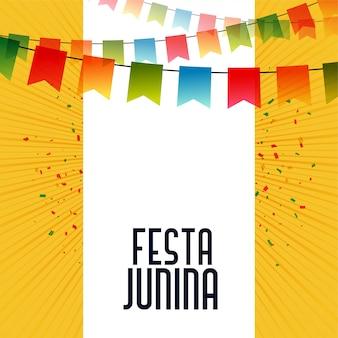 Lateinamerikanischer festa junina feierhintergrund