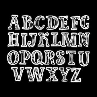 Lateinische schrift der geometrischen farbkontur, grafische dekorative art