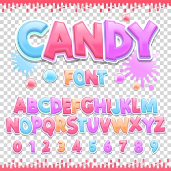 Lateinische schriftart für süßigkeiten