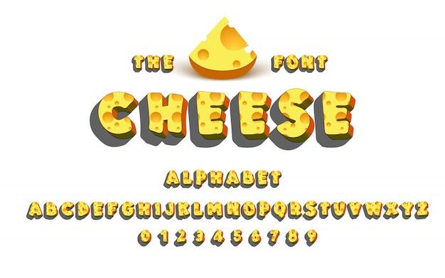 Lateinisches alphabet - käse.