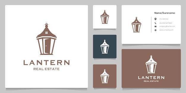 Laterne home outdoor streetlamp negativraum-logo-design