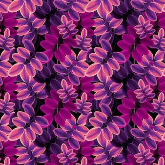 Laubmuster rosa und lila