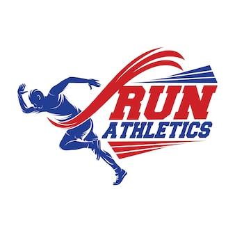 Lauf- und marathon-logo