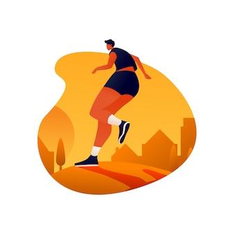 Laufen am nachmittag