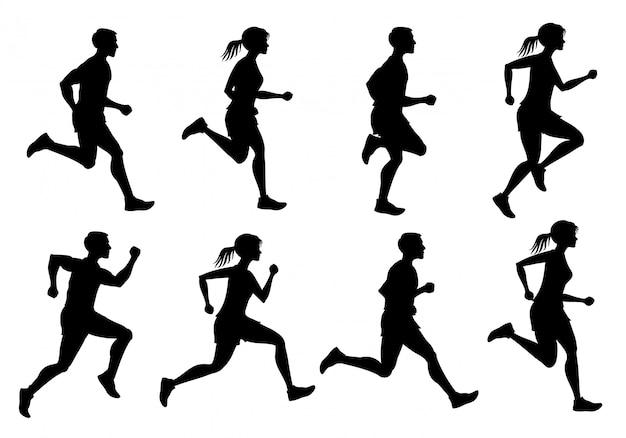 Laufen männlich und weiblich