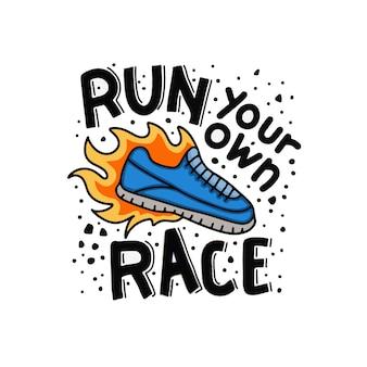Laufen sie ihr eigenes rennen