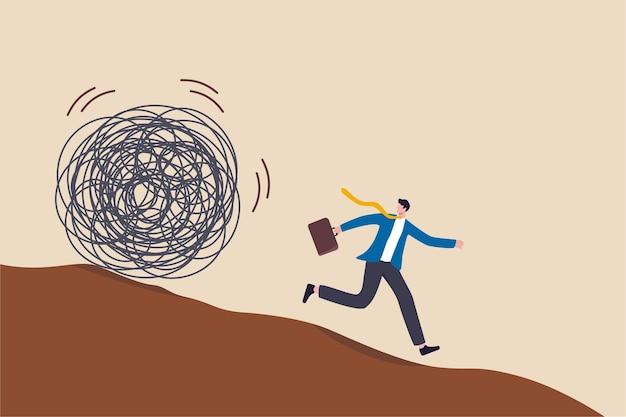 Laufen sie vor ärger davon und vermeiden sie arbeitsstresskonflikte