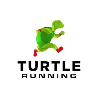 Laufende schildkröten-logo-vorlage