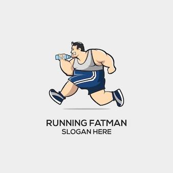 Laufender fatman