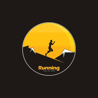 Laufendes logo-design, laufende silhouette