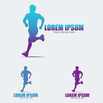 Laufendes logo-vorlagen-design