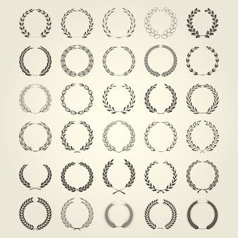 Laurel wreaths kollektion in verschiedenen stilrichtungen