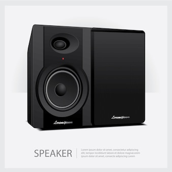 Laute lautsprecher isolierte illustration