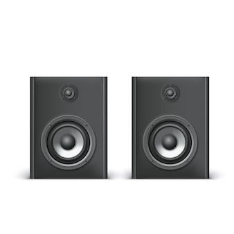 Lautsprecher isoliert auf weißem hintergrund, vektorillustration für sie