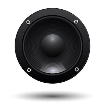 Lautsprecher isoliert auf weißem hintergrund
