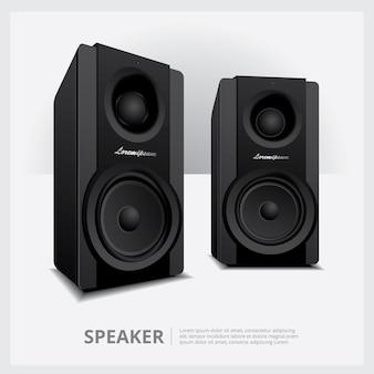 Lautsprecher isoliert