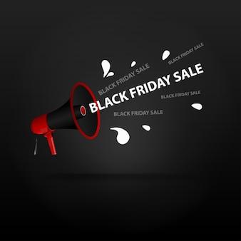Lautsprecher mit inschrift black friday sale.