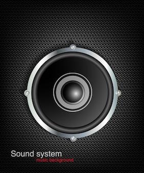 Lautsprecher nahtloser hintergrund