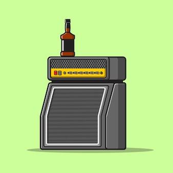 Lautsprecher-sound-cartoon-symbol abbildung