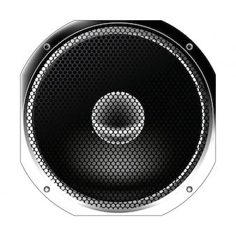 Lautsprecher von der funkausrüstung isoliert