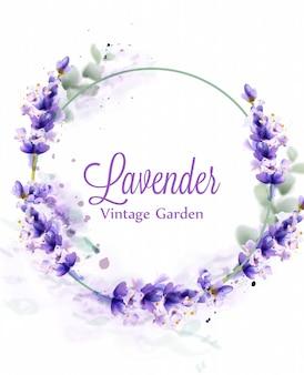 Lavendel aquarell kranz