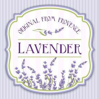 Lavendel elegantes shabby chic label