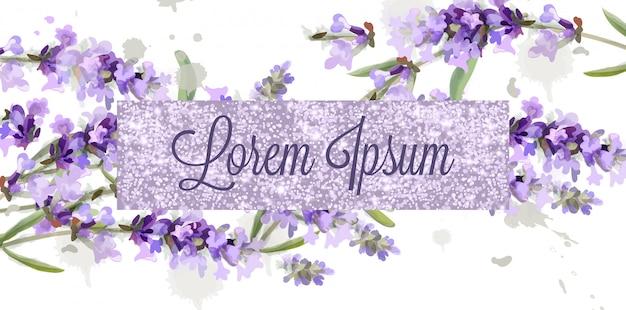 Lavendel karte aquarell