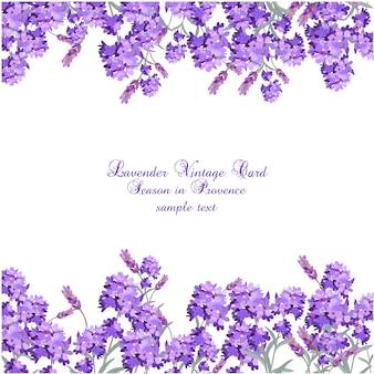 Lavendelweinlesekarte