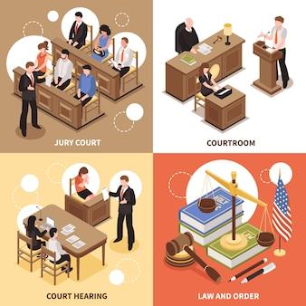 Law and order 2x2 design-konzept