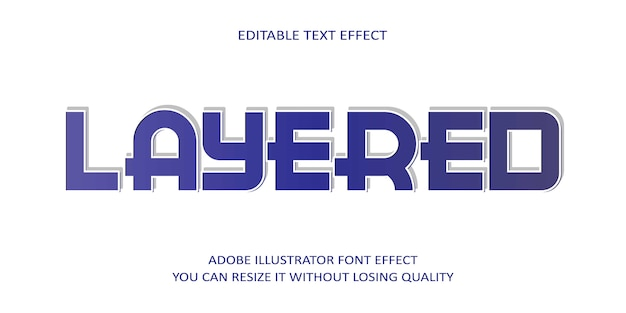 Layered text font effect