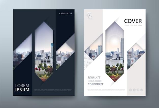 Layout der flyer-buch-cover-vorlage im a4-format