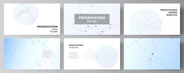 Layout der präsentationsfolien entwerfen geschäftsvorlagen
