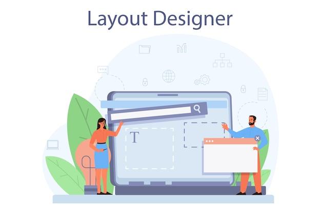Layout-designer-konzept.