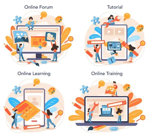 Layout designer online-service oder plattform-set